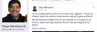 Gratuloval mu aj Maradona